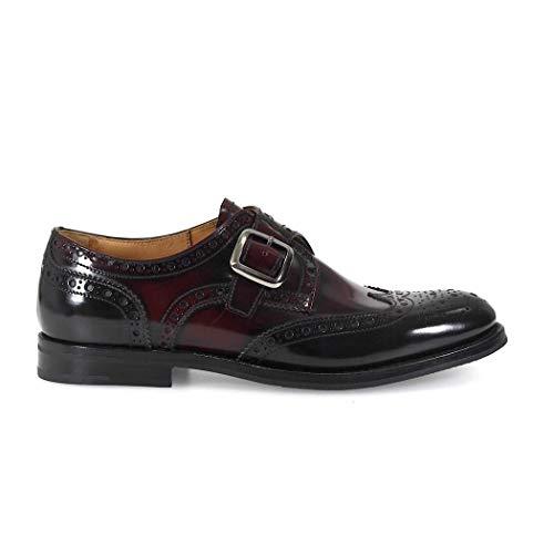 Church's Luxury Fashion Damen DO0099FWF0SUT Bordeauxrot Leder Monk-Schuhe | Herbst Winter 19