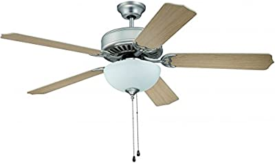Harbor Breeze 40198 Lansing 42 In Brushed Nickel Indoor Downrod Mount Ceiling Fan With Light Kit