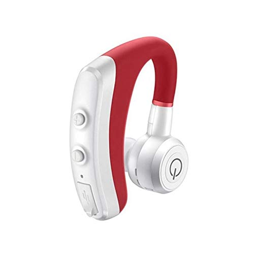 Yuxahiug Auriculares Manos Libres Bluetooth Auto Bluetooth (Color : Red)