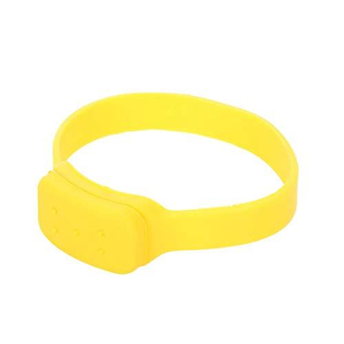 Despachador de mano de pulsera, dispensador de mano de silicona suave duradero, pulsera de silicona ajustable dispensadora de líquido para viajes para hombres y mujeres