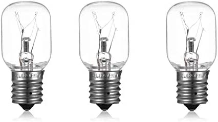 3 Pack 40 Watts 8206232A Microwave Light Bulb 125v 40w E17 Fits for Whirlpool Maytag GE Amana product image