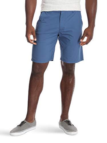 Wrangler Authentics Men's Performance Comfort Waist Flex Flat Front Short, Galaxy Blue, 34