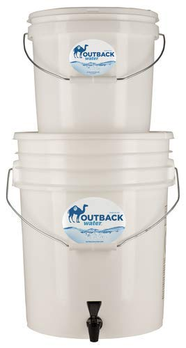 Outback Plus Emergency Water Filter System Removes 99.99% Viruses and 99.9999% Bacteria; Portable Gravity-Fed Survival Filtration for 6-12 Gallons Per Day (OB-25NF)