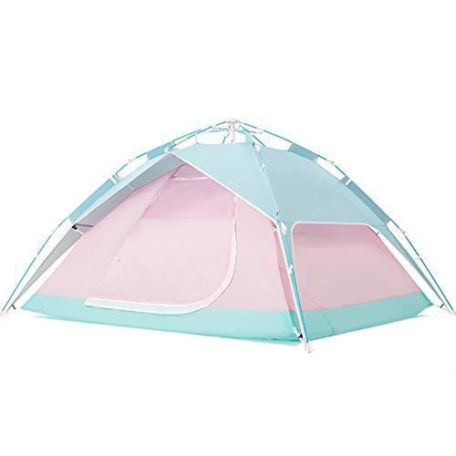 LZL Carpas Tienda automática Pop Up Camping for 4 Personas con 2 Puertas y Ventanas 2mesh Tienda inmediata a Prueba de Agua for la Familia Senderismo Tienda al Aire Libre (Color : Pink)