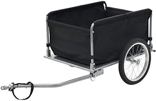 Remorques cargo vélo noir et jaune vélo de 65 kg chariots à bagages,Black