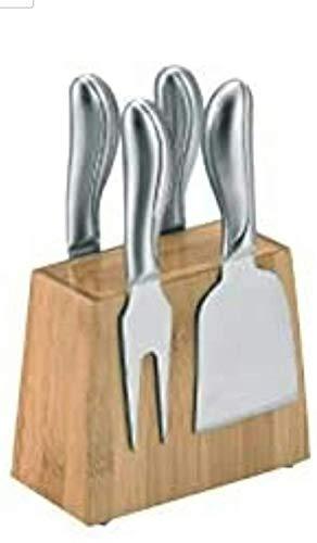 Salvi Juego de Cuchillos para Queso Set de Cuchillos con Taco Bambu...
