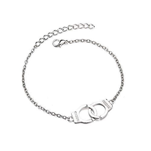 Bracelet en argent doré avec chaîne, Nourich DIY Bracelet Cheville Layered Corde Main réglable Chaîne de cheville Punk Plage Décoration Cadeau Mode simple élégante Anklet (B)