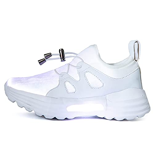 IGxx LED Light Up Shoes for Kids USB Recharging High Top LED Sneakers for Boys Girls Toddler Black