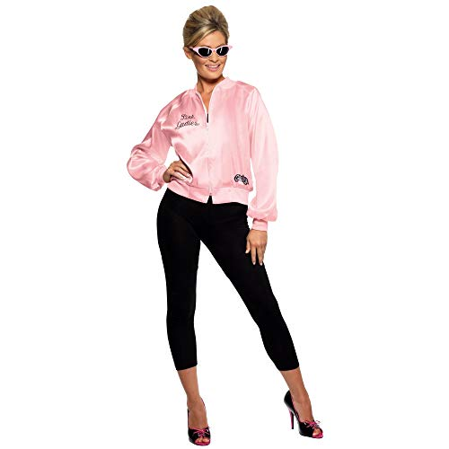 Smiffy's 28385, Chaqueta de Mujer para Grease, Rosa, S (8 - 10 UK)