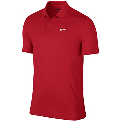 Nike Victory Solid Logo Chest Mens Golf Polo Shirt University Red XXL