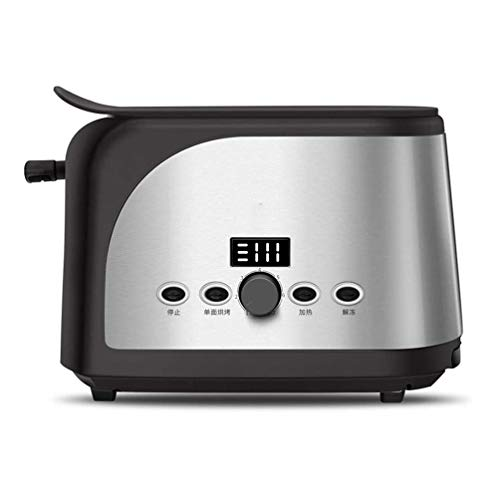 VIVICL Brotmaschine 2 Scheiben Breitschlitz Edelstahl Toaster mit LED Anzeige 7 Shade Toast Einstellungen, für Home Breakfast Brotmaschine,A