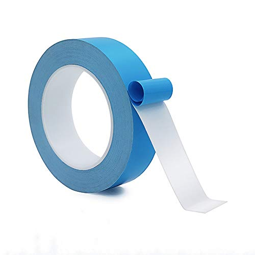 Thermal Adhesive Tape, 25Mx20mmx0.15mm High Performance Thermally Double Side Tapes Cooling Pad Apply to LED Strips, 3D Printer,BCP,CPU,GPU,Laptop Heatsink,and Have Heat Conduction, Insulation,