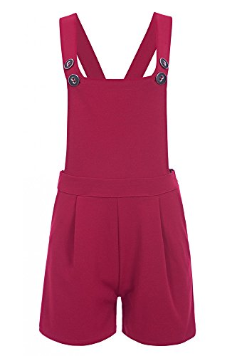 Laeticia Dreams Salopette corta da donna, XS S M L XL rosso vivo 42