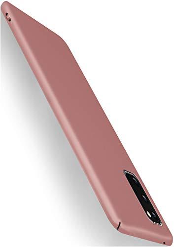 moex Alpha Case für Samsung Galaxy S20 / S20 5G Hülle Stoßfest und Leicht Handyhülle Extra Dünn, Super Slim Schutzhülle Ultra Air Hybrid PC Hardcase aus Kunststoff - Rosegold