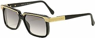 e0e5588d33 Cazal Legends 650 001SG Shiny Black Gold Square Full Rim Sunglasses 58MM