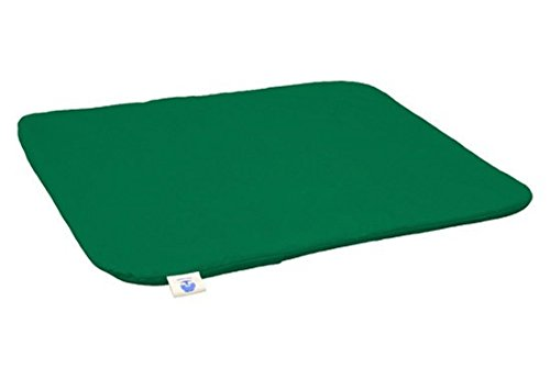 Blue Banyan Meditation Mat, Zabuton, Flat Mat - Made in the UK. Forest Green