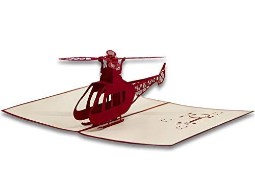 RF Distribution Glückwunschkarte Origami Helikopter, multicolour, 5 anni, OT0ELI