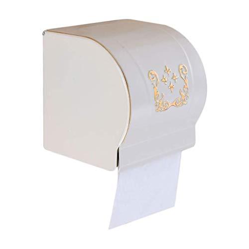 Toiletpapierdispenser/toiletpapierhouder/toiletpapierhouder/toiletpapierhouder/doos met deksel Wit