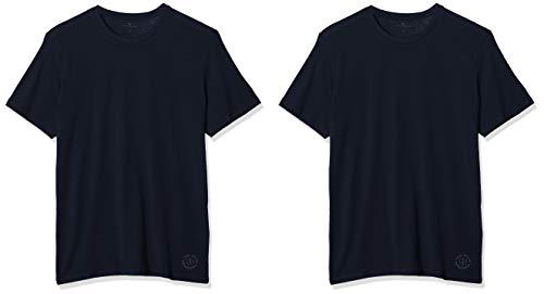 TOM TAILOR Herren Doppelpack Crew Neck T-Shirt - 2er Pack, Blau (Sky Captain Blue 10668), Medium