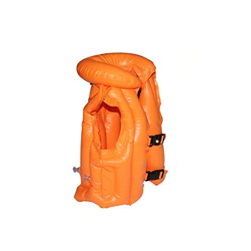 YZLSM Kinder aufblasbare Badeanzug PVC Schwimmen Schwimmweste aufblasbare Weste Aufblasbare Schwimm Kinder Schwimmweste Schwimmweste für Kinder 1pc Orange S