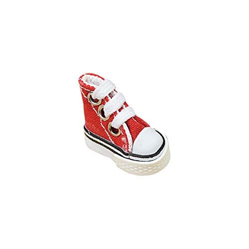 luukiy 2020 Newsest Mini Finger Shoe, 3.5cm Canvas Mini Shoes, Mini Sneakers, Cute Skateboard Shoe para Finger Breakdance/Diapasón/Zapatos de muñeca/Fabricación de llaveros para Zapatillas 🔥