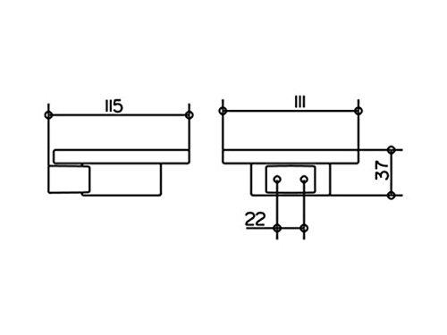 KEUCO Seifenablage Plan 14955 komplett mit Echtkristall Schale silber eloxiert 14955179000