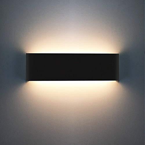 XIAJIA 12W LED Lámpara de pared Interior,Moderna Apliques de Pared,Moda Agradable Luz de Ambiente,perfecto para Lámpara de Decoración para, AC85-265V, Longitud 30cm,Blanco Cálido