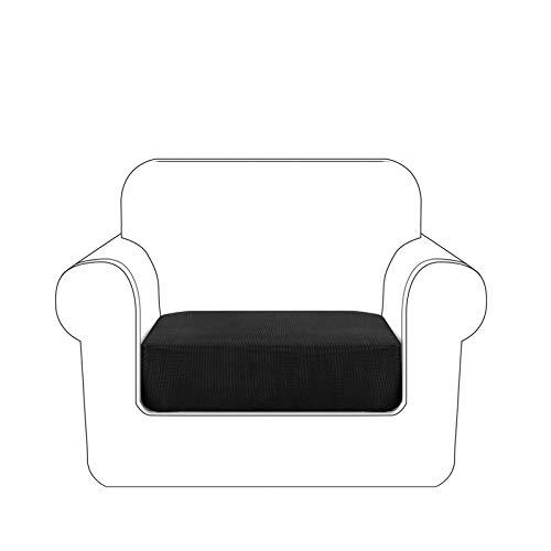 Granbest Premium - Funda de cojín para sofá(Negro, 1 Plaza)