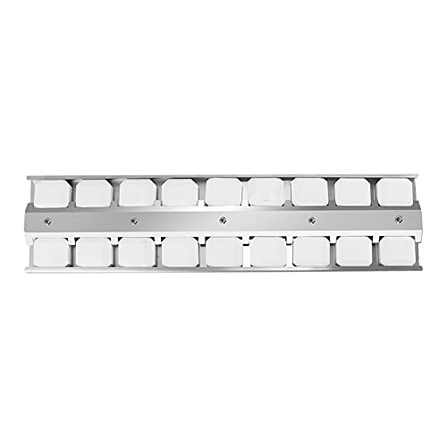 """Grill Briquette Tray Heat Plate Shield 21 1/2"""" X 5 1/2"""" BBQ Burner Cover Replacement Parts for Viking VIKBT2 Replaces 032381-000, Stainless Steel Ceramic Briquettes Heat Deflector Flavorizer Bar"""