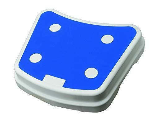 Badewannen-Trittstufe PILE Wannenstufe Einstiegshilfe rutschfest stapelbar weiß/blau 1 Stück