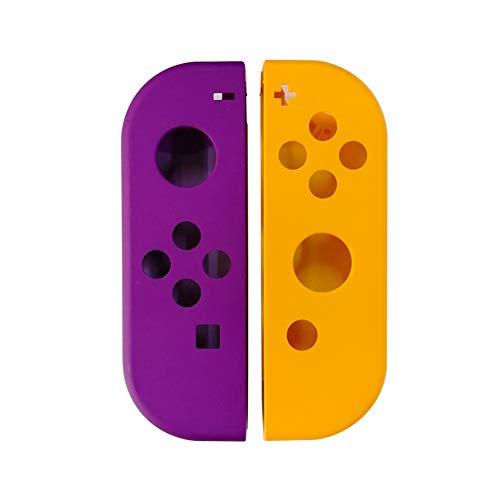 Haodasi Tragbares Ersatz-Gehäuse Harte Hülle DIY Schale Cover für Nintendo Switch Controller Joy-Con Links Lila Rechten Orange