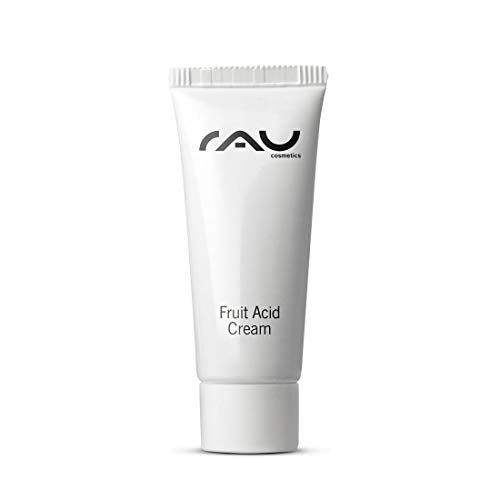RAU Fruit Acid Cream (0.27 Fl.oz) - Best Moisturizer With Fruit Acids (AHA, BHA), Hyaluronic Acid, Vitamins & Oils - Ideal for Mature, Impure, Pigmented, Pale or Keratinized Skin