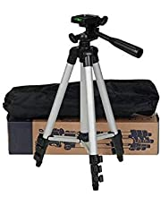 Yinikiz 3110 Smart Aluminium Adjustable Portable and Foldable Tripod Stand Clip and Camera Holder