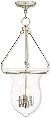 Livex Lighting 50294-02 Polished Brass Pendant with Clear Glass