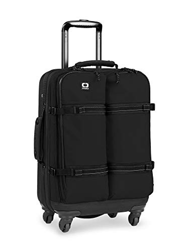 OGIO ALPHA Convoy 4-Wheel Spinner Carry-on Travel Bag, US Domestic Carry-On, Black