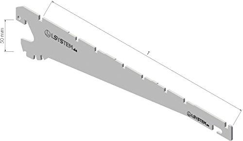 Tegometall Konsole Juraweiss Paar 370 mm