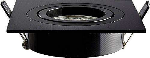 HEITRONIC Einbaustrahler DL7801 GU10 & GU5,3 schwarz eckig LED max. 8W