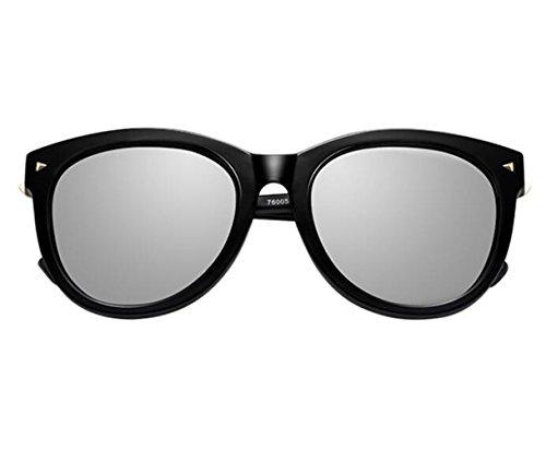 SONNENBRILLEN Big Box Retro Lady Persönlichkeit Polarisierte Sonnenbrillen, Black Box/Reflektierenden Folie
