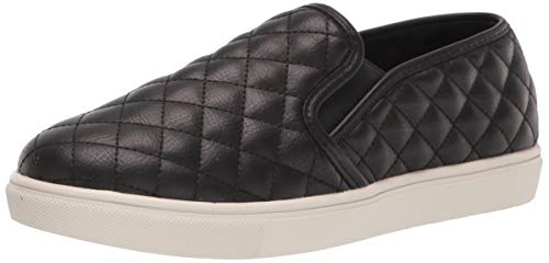 Steve Madden Women's Ecentrcq Slip-On Fashion Sneaker, Black, 7.5 M US