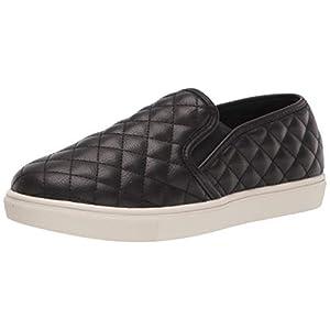 Steve Madden Women's Ecentrcq Slip-On Fashion Sneaker, Black, 8.5 M US
