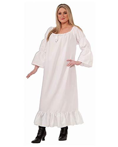 Historisches Nachthemd als Mittelalter Kostüm Plus Size