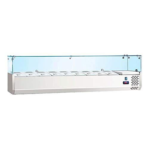 BRUNETTI Vitrina Refrigerada Profesional Con Capacidad 8 bandejas GN 1/4. Ref: TPR1800