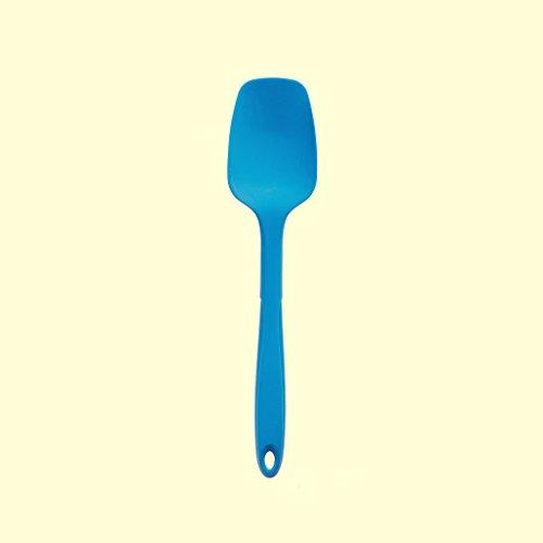 Kochblume Silikon Teigschaber-Löffel klein (blau)