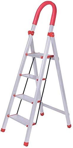 ZHJING Folding Step pall för kontor hem, med hand grepp, glidande bred pedal stege pall för kök städning (Size : 3 steps)