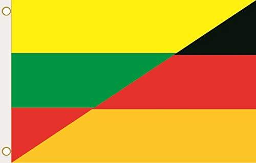 U24 Flagge Fahne Litauen-Deutschland 90 x 150 cm