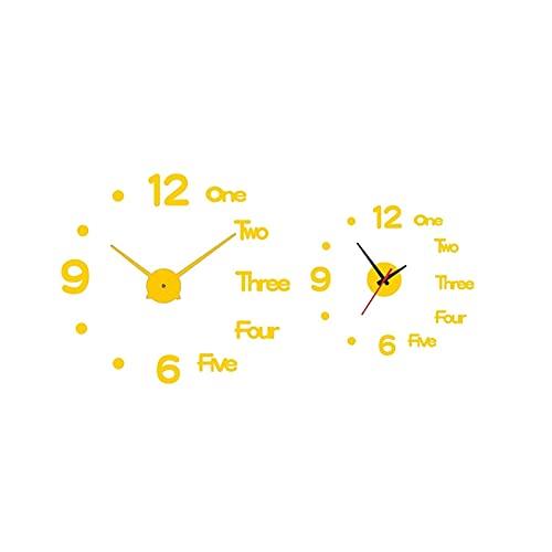 Relojes de pared especiales Reloj De Pared Bricolaje 3D,Acrílico Moderno Etiqueta Digital Relojes Colgantes,Sin Marco Sin Mareo,Decorativo Para Oficina Casa Dormitorio Sala De Estar Corredor Bar Cocin