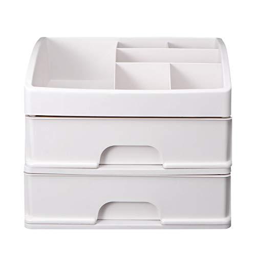 xinlianxin 1 estuche de almacenamiento multifunción para escritorio, organizador de maquillaje, cajón, caja de almacenamiento de joyas, contenedor de lápiz labial (color negro)