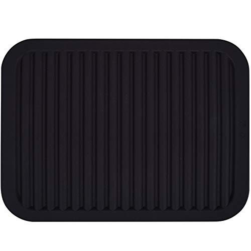 dealcase 9'X12' Environmental Silicone Mats, Premium Quality Insulated Flexible Durable Non Slip Coasters Hot Pads Hot Dishes, Pots Pans - Waterproof Trivet mat, Tableware Pad, Hygienic Safety, Black