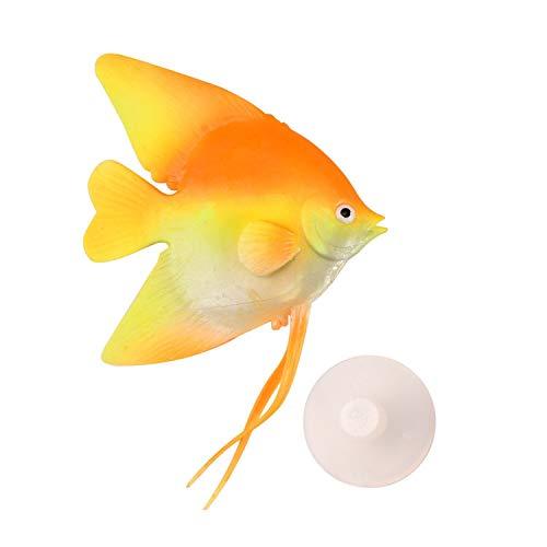 Uotyle k¨¹nstliche Nerfisch Silikon Gloating Gef?lschte Fisch f¨¹r Fisch Tank gl¨¹hende Wirkung Aquarium Dekor Fisch Tank schwimmende Ornament