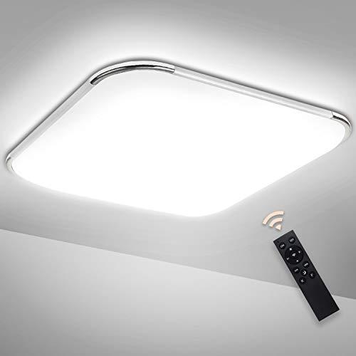 Hengda LED Deckenleuchte Dimmbar 24W LED Deckenlampe mit Fernbedienung Badezimmerleuchte Wohnzimmer Lampe für Bad, Schlafzimmer, Küche, Kinderzimmer